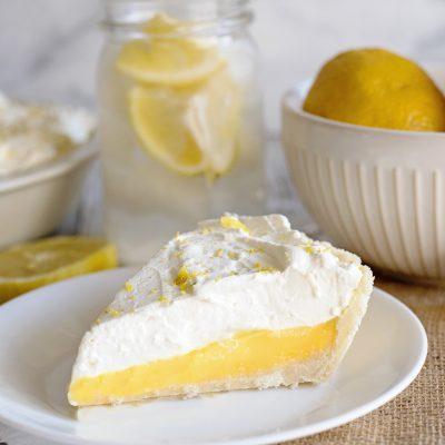 The Best Sugar Cookie Lemon Pie