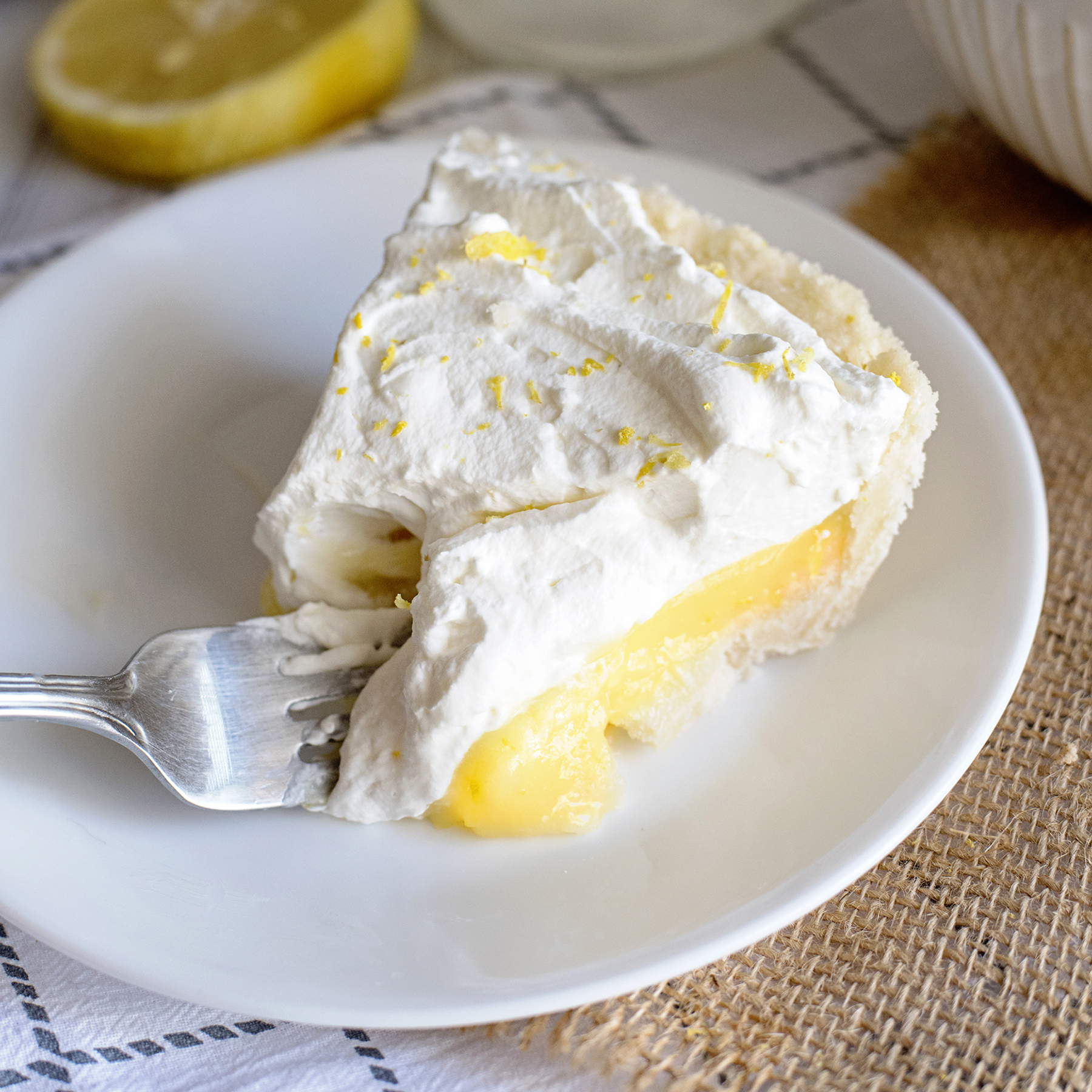 The Best Sugar Cookie Lemon Pie