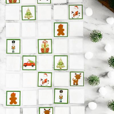 Christmas Memory Game – Free Printable