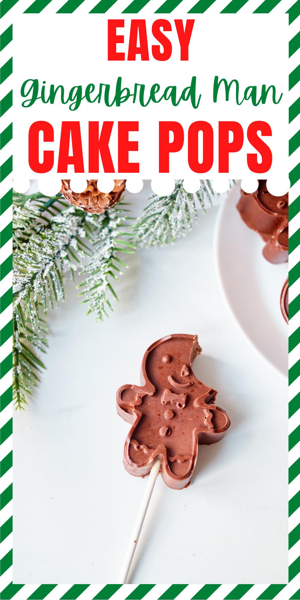 Easy Gingerbread Man Cake Pops