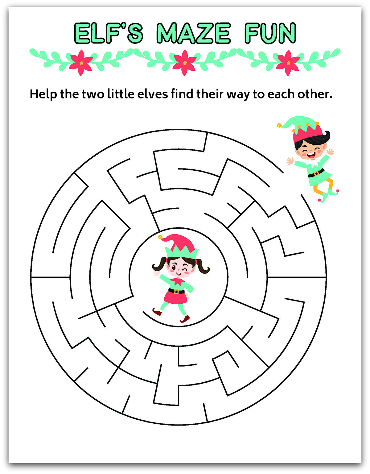 Elf Learning Printables Package