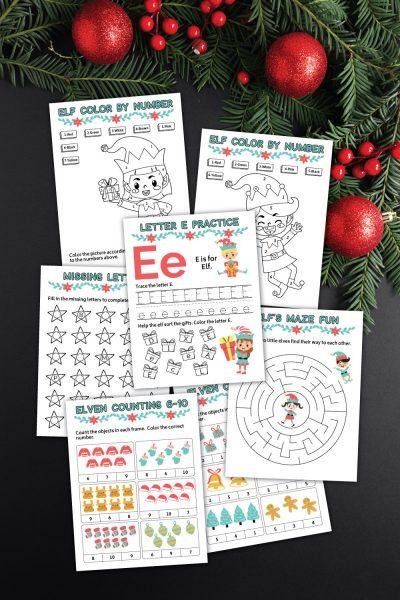 Elf Learning Printables Package