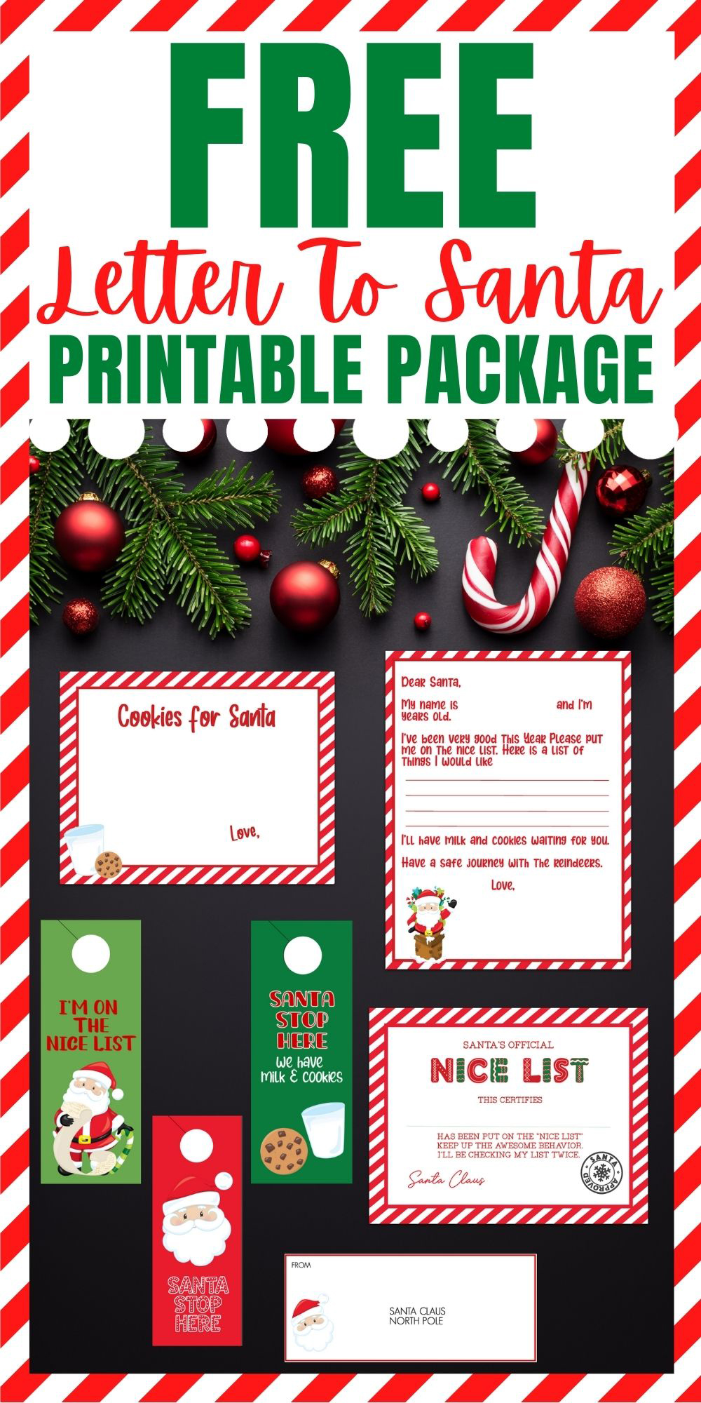 Letter To Santa Printable Package