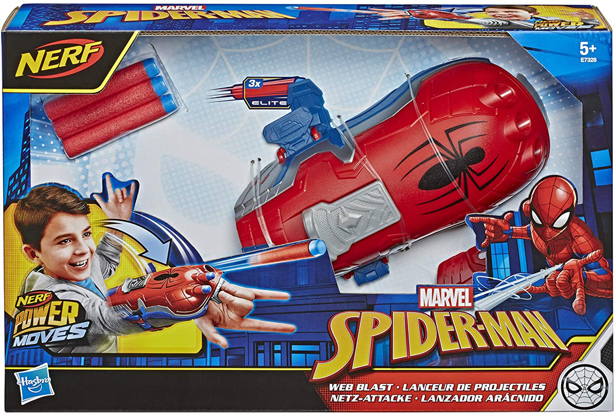 Nerf Power Moves Marvel Spiderman Web Blast