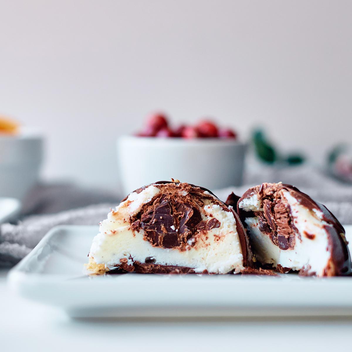 Tartufo - Vanilla Ice Cream Dome