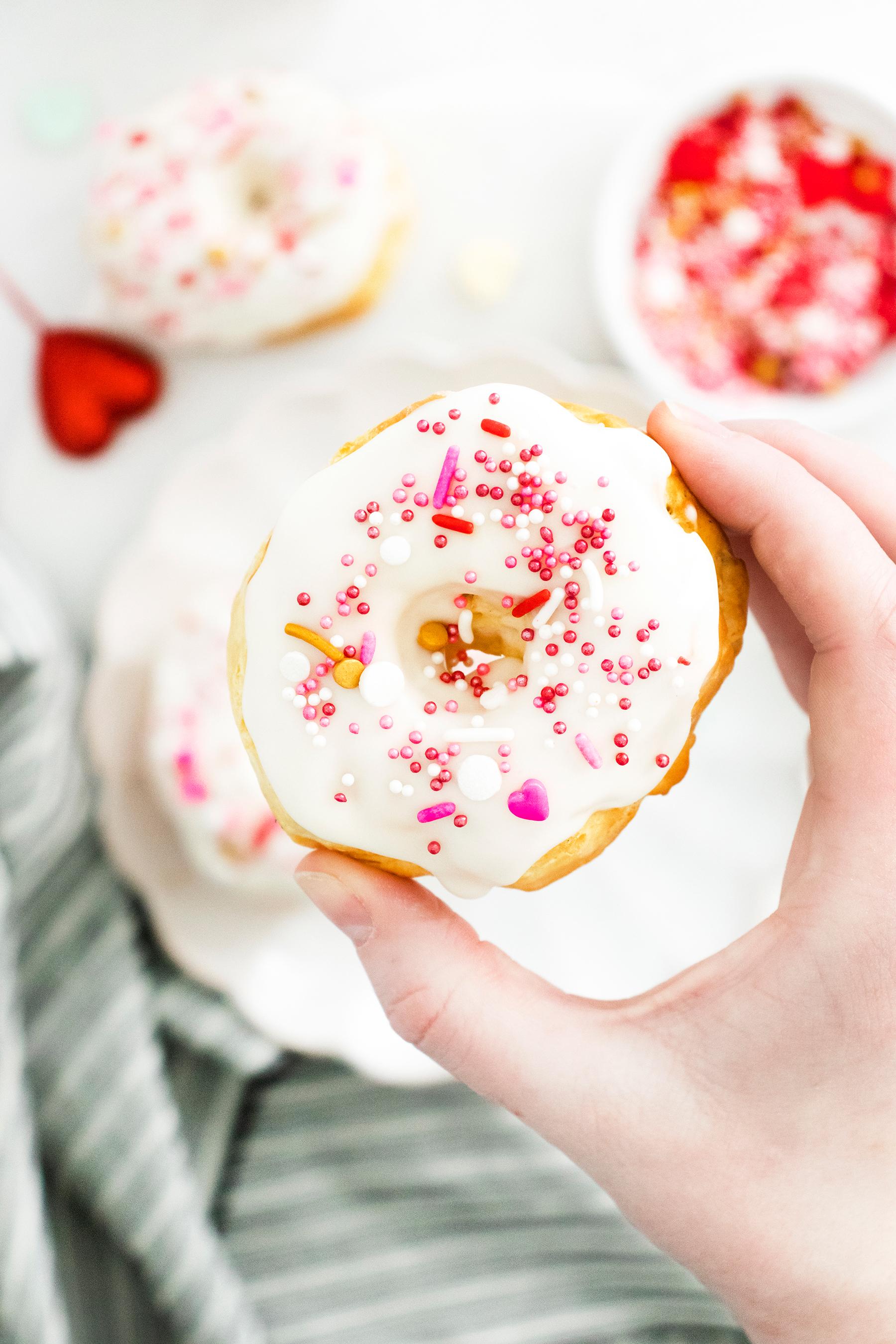Air Fryer Valentine's Day Donuts